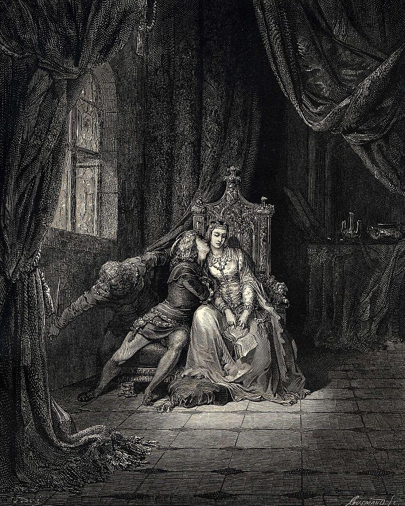 """Gustave Doré """"Quel giorno più non vi leggemmo avante"""""""